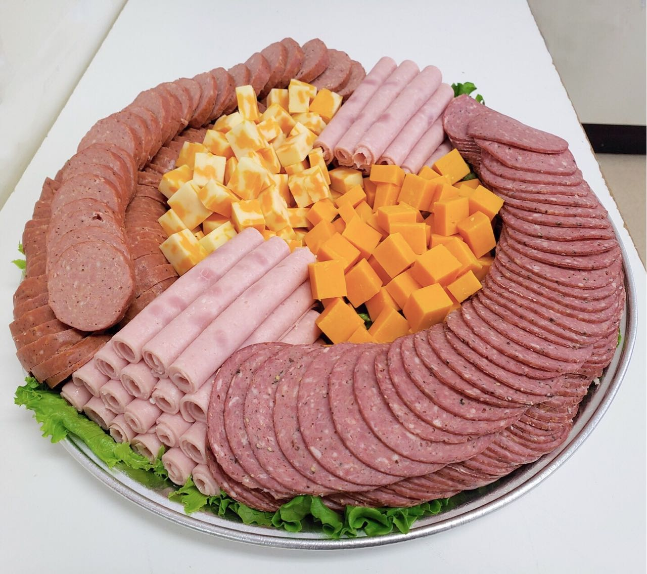 EastEnd Meats & Sausage Freshly-Prepared Meat, Cheese, Pickles Deli Trays for either wedding social, family party or business gathering in Winnipeg. Custom Menus Available